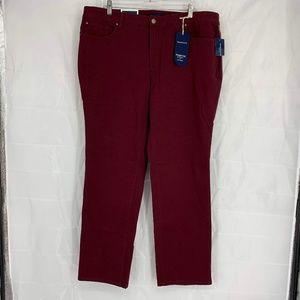Charter Club Size 18W Burgundy Straight Leg Jeans
